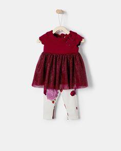 c29e9cb86 Mesh Tunic And Leggings Set Luxury Baby Clothes