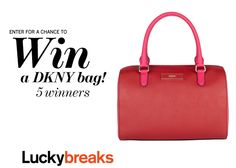 Enter here to win one of 5 DKNY bags––worth $265 each!