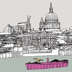 St Paul Cathedral illustration by Claire Rollet