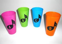 Personalized Initial Music Note Tumbler Drink Cups for Birthdays, Homewarming Gift, Wedding Bridesmaid Party Favors on Etsy, $8.00