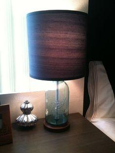 Vintage Ball Mason Jar Lamp by laurieburns on Etsy, $175.00