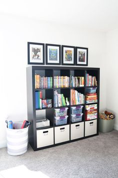 Home Organization- How to Declutter Kids' Toys and an Organized Playroom Tour, kids organization, playroom organization, organized playroom, organized toy room, toy room organization, decluttering toys, purging toys, purge, declutter, toy organization ideas, organizing with children, IKEA KALLAX cube unit