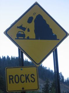on this mountain watch out for falling cows...I mean rocks.