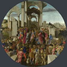 The Adoration of the Kings about 1470-5, Sandro Botticelli