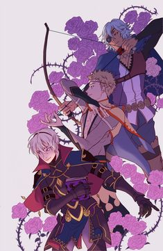 Fire Emblem Fates Conquest - Niles, Odin, and Leo by Rondeau