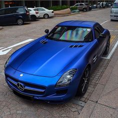 «Matte Blue SLS  by: @zac_sgcarspotter  #supercar #hypercar #madwhips #luxurycars #whosaidsupercars #amazingcars247 #carinstagram #carsofinstagram #cargram…»