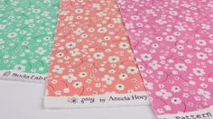 The Ditsy floral prints in lily of the valley, geranium and hollyhock from @Aneela Hoey's Posy collection for @ModaFabrics