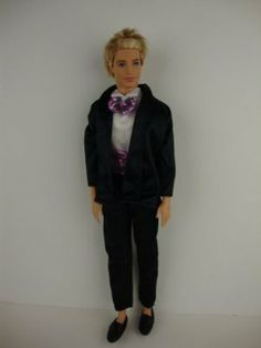 2pc Tux with Hot Pink Bow Tie Made to Fit the Ken Doll by Olivia's Doll Closet. $7.00. A great gift for your children ,your friends and yourself .. Please note: that all items are made for and or by Olivias Doll Closet, they are made to fit the popular Barbie Doll products. We are not affiliated with Mattel, we are not implying in any way that these items are associated with Mattel. We simply just offer great products to complement the Barbie products. Barbie is the trade...