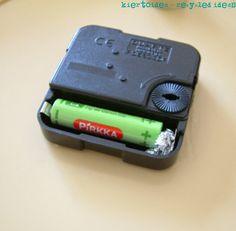 kiertoidea - recycled ideas: Patterin jatkaminen folioilla - Too small battery?