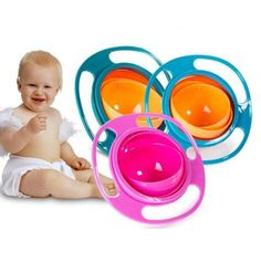 Buy Gyro Bowl Infant Baby Solid Feeding Bowl Dishes Boy Girl Spill Proof Universal Rotate Technology Dinner Plate Baby Accessories at Wish - Shopping Made Fun Solids For Baby, Gadgets, Cute Toys, Funny Toys, Baby Feeding, Baby Accessories, Baby Food Recipes, Baby Toys, Creative