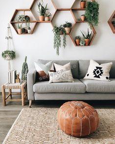Boho Chic Living Room, Earthy Living Room, Cozy Living, Bohemian Chic Decor, Bohemian Homes, Wall Decor Boho, Bohemian Decorating, Nordic Living Room, Boho Chic Bedroom