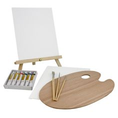 Us Art Supply 13 Pcs Painting Set Mini Table Easel Oil Canvas Watercolor Wooden #UsArtSupply
