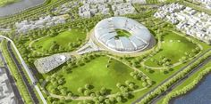 Tangram's Qatar World Cup Stadium Sculpts the Desert Wind to Provide Passive Cooling  Read more: Tangram's FIFA World Cup 2022 Stadium in Qatar Sculpts the Desert Wind to Create Passive Cooling Systems   Inhabitat - Sustainable Design Innovation, Eco Architecture, Green Building