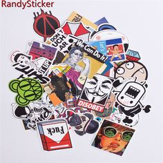 50 pcs Mixed stickers TOY styling funny DOODLE sticker Doodle Motorcycle Bike Travel Doodle accessory covers detector decals