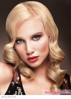 Pictures : Prom and Homecoming Hairstyles - Long Finger Waves Hair Style Homecoming Hairstyles, Bride Hairstyles, Curled Hairstyles, Hairstyle Ideas, Bridesmaid Hairstyles, Straight Hairstyles, Hair Styles 2014, Medium Hair Styles, Long Hair Styles