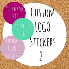 "Custom  Stickers, Custom Labels, Product Labels Personalized stickers Personalized Labels custom circle stickers custom logo personalized 2"" - pinned by pin4etsy.com"