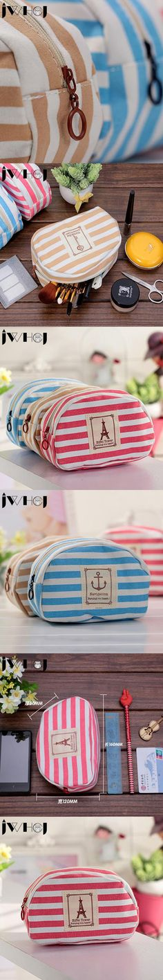 1 x navy style canvas large-capacity pencil case pencil bag Purse stationery escolar school supplies Students gift Free shipping