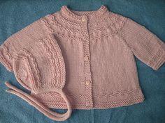 Seamless Yoked Baby Sweater Free Knitting Pattern