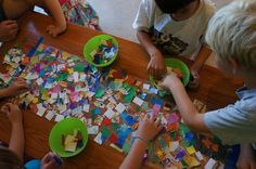Team work for kids! Collage on clear contact paper. Kids Collage, Collage Ideas, Art Ideas, Art Therapy Activities, Contact Paper, Dinners For Kids, Kids Nutrition, Teaching Art, Diy Art