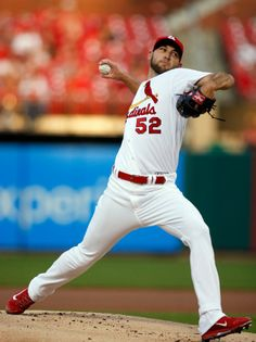 starting pitcher Michael Wacha throws during the first inning of a baseball game against the Arizona Diamondbacks. Cards won 3-2. 5-21-14
