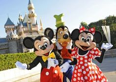 Disney Land is a theme park in California and also provides live entertainment throughout the park on certain days of the week. Many Disney characters can be found at the park, greeting visitors, interacting with adults and children, and posing for pictures. Firework shows are also held by the castle at night.