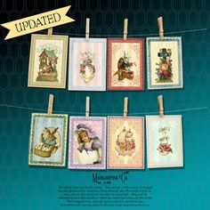 VINTAGE EASTER Printable Tags DIGITAL Atc by MoonlightingandCo