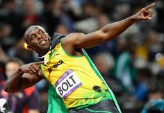 Usain Bolt: Convinved he will have the better of Yohan Blake in the Usain Bolt Pose, Usain Bolt Photos, Orange Cinema, Yohan Blake, Olympic Records, Carl Lewis, Fastest Man, Gareth Bale, Doha