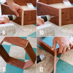 Cool Diy Honeycomb Shelves - Living room and Decorating Do It Yourself Regal, Do It Yourself Design, Honeycomb Shelves, Hexagon Shelves, Diy Wood Projects, Wood Crafts, Woodworking Projects, Sewing Projects, Diy Crafts