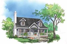 Country Exterior - Front Elevation Plan #929-396 - Houseplans.com