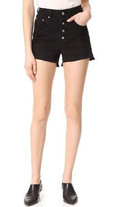ANINE BING High Waisted Denim Shorts
