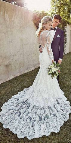 18 Mermaid Wedding Dresses From Top World Designers ❤ See more: http://www.weddingforward.com/mermaid-wedding-dresses/ #weddings #mermaiddress