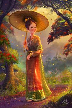 Kyaing Tong Princess by webang111
