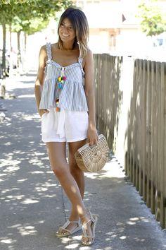 www.alicerisesup.com Boho Look, Boho Style, Moda Boho, Linen Shorts, Boho Fashion, Summer Dresses, Outfits, Fotografia, Bohemian Fashion