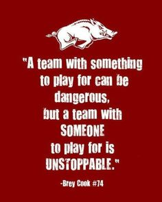 Proud to be a Razorback!