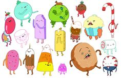 Candy People of Adventure Time