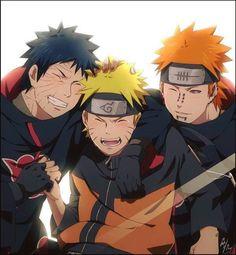 Lindos <3  Obito, Naruto e Pain