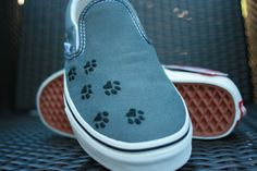 Paw Print Vans Shoes.