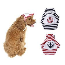Dog Pet Supplies Puppy Apparel Navy Stripe Design Costume Hat XS S M L