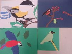 Charley Harper and Audubon lesson plan: one in Audubon style (watercolors) and one in Harper style (cut paper) of the same bird. Display together!
