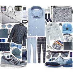 MEN | Richard James Blue Gingham Check Cotton Shirt