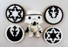 How to make Perler Bead Star Wars coasters