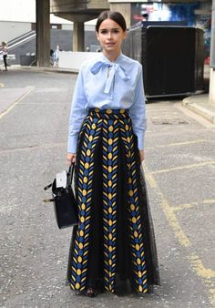 Miroslava Duma in that gorgeous Valentino number at the vogue festival. London