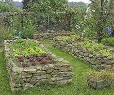 Frame, vegetable patch: structuring the vegetable patch - Garden Ideas - Square vegetable garden frame: structuring the vegetable garden stone raised garden beds The post S - Potager Garden, Garden Landscaping, Herb Garden, Landscaping Ideas, Stone Raised Beds, Raised Vegetable Gardens, Raised Gardens, Building Raised Garden Beds, Garden Cottage
