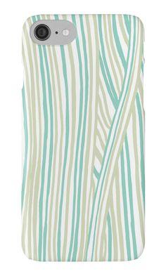 """Funky stripes, white and green"" iPhone Cases & Skins by ptitsa-tsatsa | Redbubble"