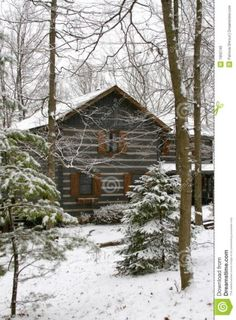 Winter Cabin Royalty Free Stock