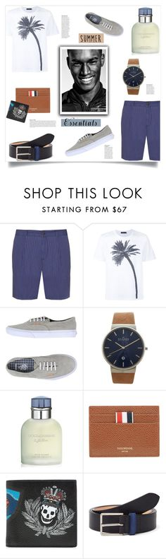 """""""Summer Menswear Essentials"""" by sofirose ❤ liked on Polyvore featuring J.W. Brine, Calvin Klein Collection, Vans, Skagen, Dolce&Gabbana, Thom Browne, Alexander McQueen, Paul Smith, Anja and men's fashion"""