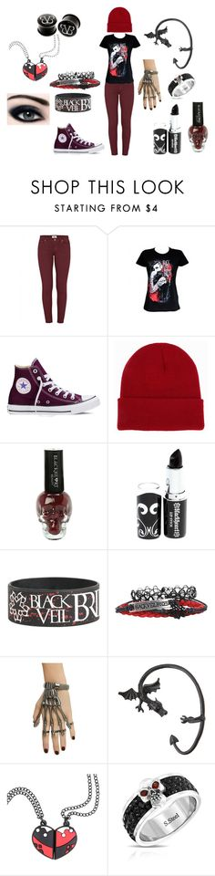 """Black Veil Brides fangirl <3"" by in-seva on Polyvore featuring Paige Denim, Converse, NLY Accessories and Bling Jewelry"