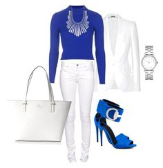 """""""Blue...part 3"""" by aleta-ashley on Polyvore featuring Alexander McQueen, Citizen of Humanity, Gucci, Topshop, Kate Spade, Lucky Brand and Marc by Marc Jacobs"""