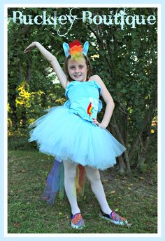 My Little Pony Rainbow Dash Inspired Tutu Dress  www.Facebook.com/MelodysTutus  www.Etsy.com/shop/BuckleyBoutique2012