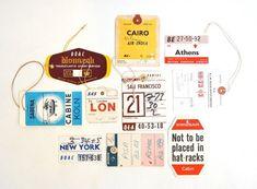 vintage airline tags via Wanken